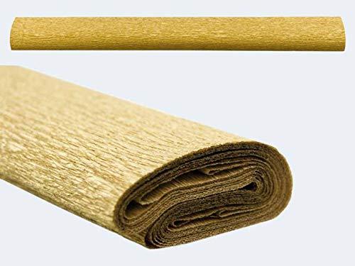 Krepppapier 50cm 2,5m gold