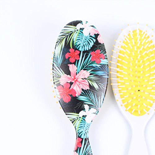 Scalp Massage Comb Anti-statique Paddle Brush Hair Styling Tool Cute Women Detangle Hairbrush Curly Hair Wig Detangling Hair Brush, Gold