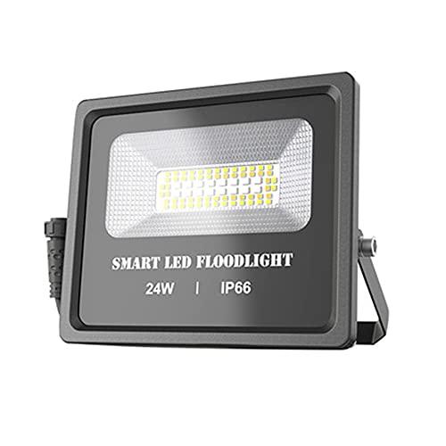 Siuber Luz de inundación LED de 24W al Aire Libre, iluminaciones Exteriores de iluminación de iluminación, Impermeable y Duradero, para la cancha de Baloncesto estacionamientos de estacionamiento