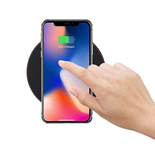 Ultradunne draadloze oplader, Meerdere bescherming, sterk en duurzaam, GY-68 Mini Ultradunne draadloze oplader Oplaadpad voor mobiele telefoon Snellader Dock(Rood)