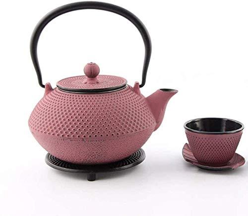 Cast Iron Teapot Iron Cast Iron Health Handmade Uncoated Copper Lid Tea Set 1400ML (2kg) Tetsubin Tea Cup