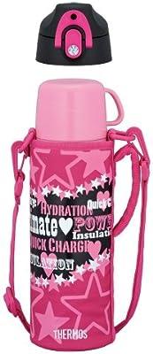 サーモス 水筒 真空断熱2WAYボトル 0.8L ブラックピンク FFR-801WF BK-P