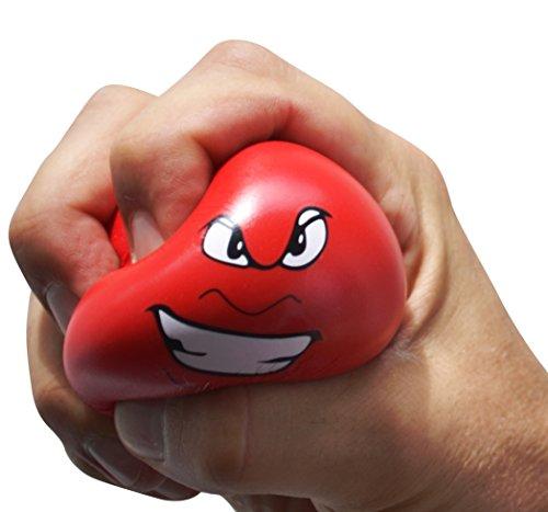EAST-WEST Trading GmbH Antistress-Bälle, 3er-Set Wutball, Handtrainer, Knetball, Fingergymnastik-Ball, Stressbewältigung
