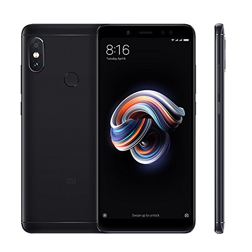 "Xiaomi Redmi Note 5 Smartphones Full HD 5.99 ""Pantalla 4 GB RAM + 64 GB ROM Snapdragon 636 Octa Core SIM Dual 13MP Frontal + 12MP 5MP 1.4μm Píxeles Grandes Dual Cámara Trasera Móviles Teléfono (Negro)"