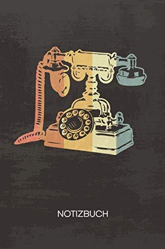 NOTIZBUCH A5 Dotted: Vintage Sammler Notizheft GEPUNKTET 120 Seiten - Antikes Telefon Notizblock Nostalgie Skizzenbuch - Vintage Geschenk für Retro Liebhaber Vintage Liebhaber 90er Kind