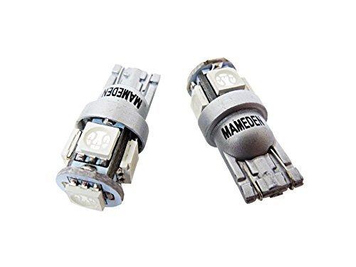 まめ電(MAMEDEN) T10 LED オレンジ アンバー 5050 3チップ 5連SMD ポジション ナンバー ルームランプ(ウェ...