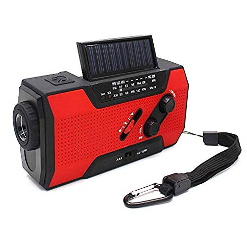 HOODIE Up Zonne-Radio,Zonne-energie Radio Noodtelefoon Hand Crank Radio met Leeslamp,LED Zaklamp Power Bank En SOS Alarm door Runningsnail|Emergency