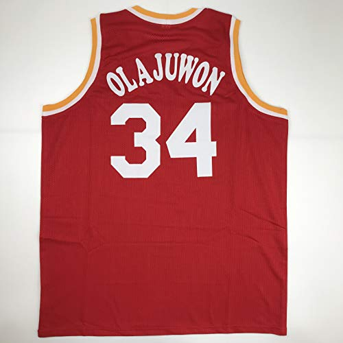 Unsigned Hakeem Olajuwon Houston Red Custom Stitched Basketball Jersey Size Men's XL New No Brands/Logos