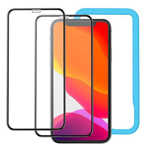 アンチグレア NIMASO ガラスフィルム iPhone 11/XR 用 強化 全面保護 フィルム フルカバー 2枚セット
