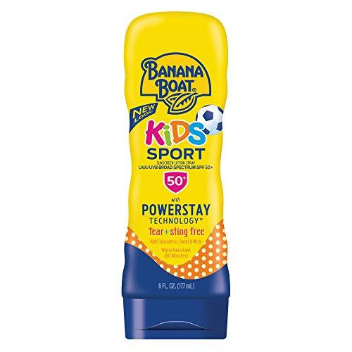 Banana Boat Kids Sport Tear-Free, Sting-Free Broad Spectrum Sunscreen Lotion, SPF 50+ - 6 Ounce
