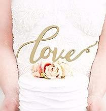 Mr Mrs Wood Cake Topper Birthday Cake Topper, Wedding Reception,Wedding Cake Decoration (LOVE)