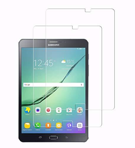 WEOFUN [2 Unidades] Compatible with Cristal Templado Samsung Galaxy Tab S2 8 Zoll [0.33mm,9H, Alta Definicion]