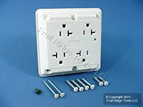 Leviton White 4-in-1 Surge Suppressor Outlet Receptacle 5490-W