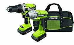 Rockwell RK1801K2 18-Volt Lithiumtech Cordless Drill and Impact Driver Combo Kit