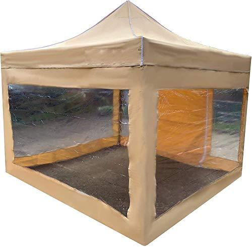 Girabundo desmontable transparente, gazebo de metal plegable pesado, refugio, gazebo,Beige