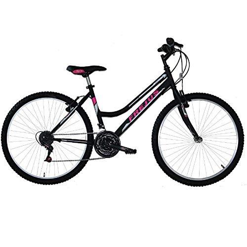MASCIAGHI Bicicletta 24' FREJUS Donna MTB 18VEL Nero/Fuxia