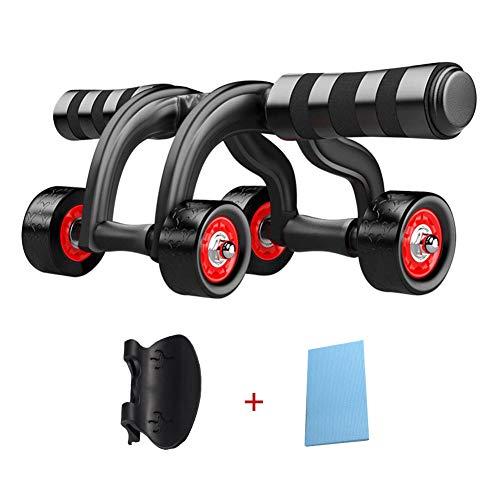 Muydz - Rodillo de abdominales para equipo de calistenia, equipo de fitness, máquina de entrenamiento, máquina abdominal con rodillera y tope de piso