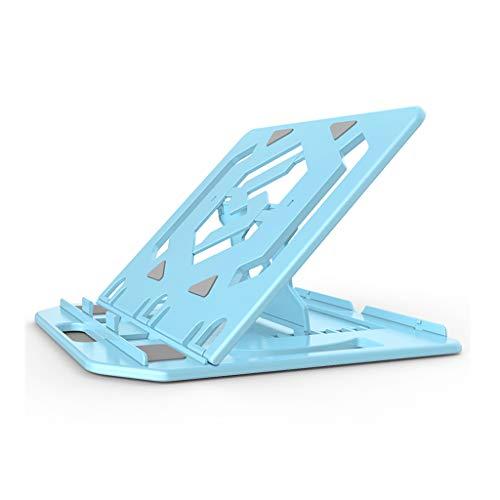 xiaoyuhy Laptopständer, Tragbarer 360 ° Drehbarer Notebookständer, Klappbarer Laptopständer Tablet-Tischständer Mit Handyhalter, Universeller, Verstellbarer Notebookständer (Farbe : Blau)