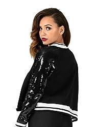 Double Platinum Adult Sequin Varsity Jacket N7218