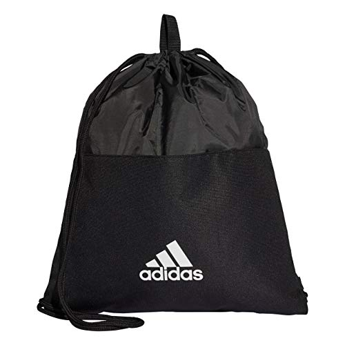 adidas Erwachsene 3 Stripes Turnbeutel, Black/White, 50 x 40 cm