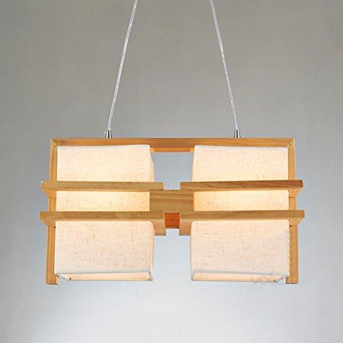 YYF Leuchter Wooden Warm Esszimmer Kronleuchter Nordic Creative Einfache Holzstämme Wohnzimmer Lampen Restaurant Schlafzimmer Kronleuchter