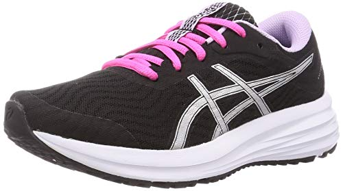ASICS Damen Patriot 12 Running Shoe, Black/Pure Silver, 40 EU