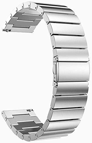 JJDSN Correas de Reloj 18 mm 20 mm 22 mm Banda de Reloj Universal Enlace de Repuesto de Acero Inoxidable para Gear S2 Classic S3 Frontier Classic