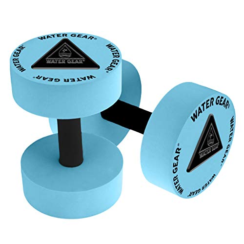 Water Gear Resistance Bells - Water Fitness and Pool Exercise - Intense Workout Without Added Stress - Easy on Joints (Aqua, 40% Resistance)