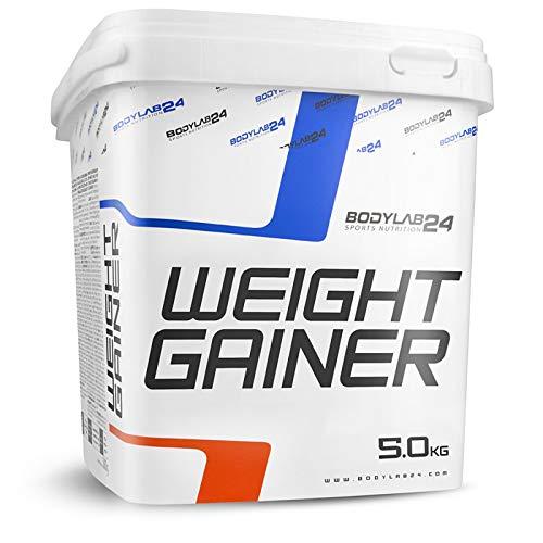 Bodylab24 Weight Gainer 5kg | ideales Verhältnis aus Kohlenhydraten und Eiweiß, über 1000kcal je Portion | Vanille