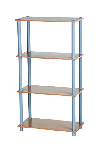 Homestyle Étagère charge lourde 45428 metallique de rangement à 4 tablettes 111 x 29,5 x 60 cm en acier bois 100 kg par niveau