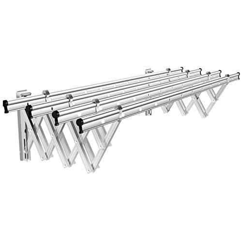 Ljings Plegable Montado Pared Acero Inoxidable Resistencia - Soporte Secado Tela Resistencia - Diseño Compacto Y Elegante,Plata,2.9m