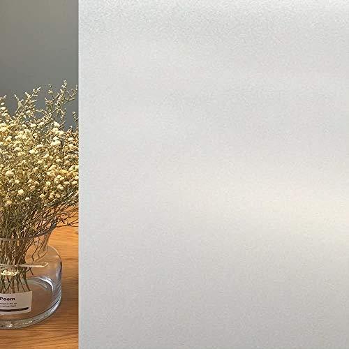 Broslooth Statisch Milchglasfolie Fensterfolie Blickdicht Sichtschutzfolie Anti-UV mit statischer Haftung für Hausdusche Küche Mietzimmer und Büro 45 * 200cm
