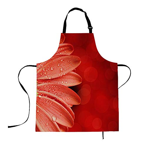 HOSNYE Adjustable Neck Cooking Apron for Women 27 x 31 inch Machine Washable Spring Flower Apron for Thanksgiving,Christmas,Cooking,Baking,Painting,Grilling,Gardening