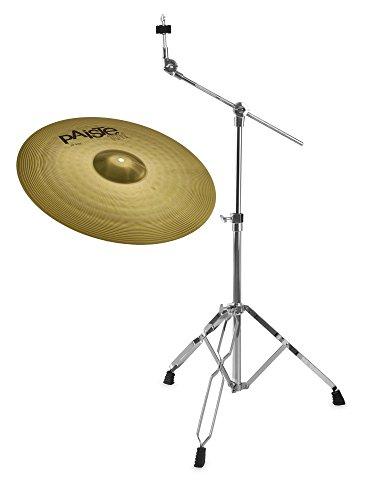 """Paiste 101 Brass 20\"""" Ride Set (MS63 Messing, ausgewogener Klang, für jede Stilrichtung geeignet, inkl. Galgenbeckenständer)"""