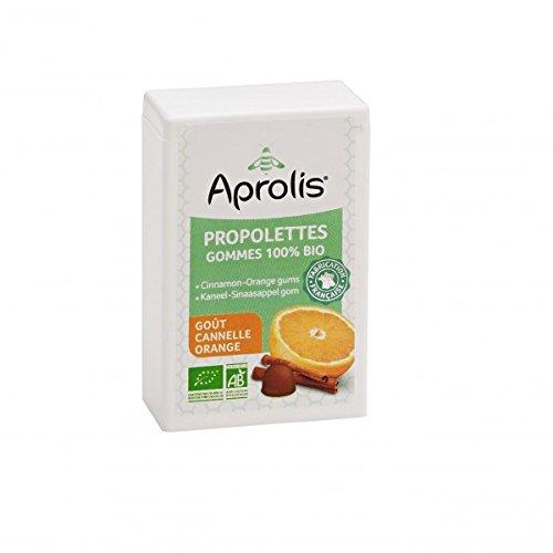 Gommes Bio pour la Gorge - Propolis, Cannelle et Orange - 50g