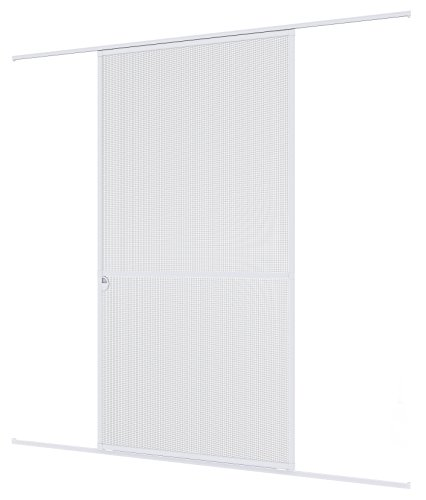 Windhager mosquitera corredera Expert, Marco de Aluminio para Puertas, 120 x 240 cm, Blanco, 04317