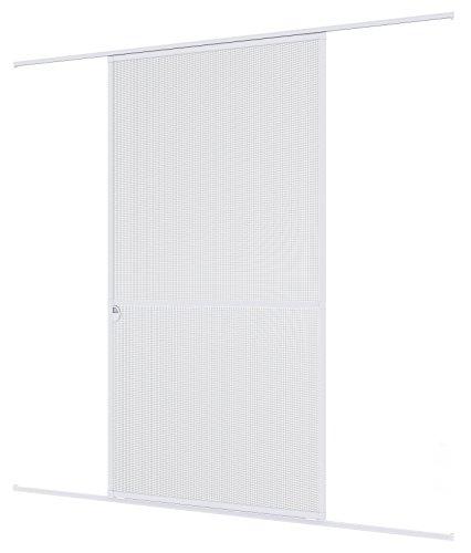 Windhager Insektenschutz Expert Schiebetür, Fliegengitter, Aluminirumrahmen für Türen, 120 x 240 cm, weiß, 04317