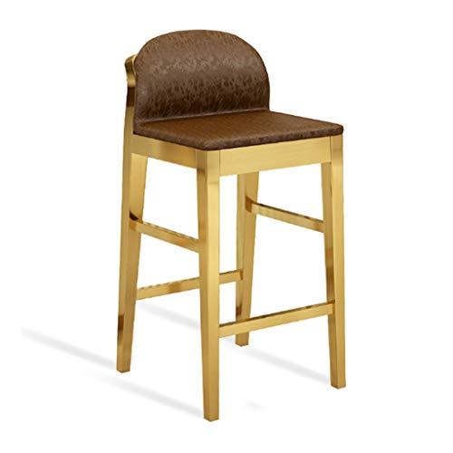 Taburetes de Bar Taburete Alto Giratorio Sillas Ba Acero inoxidable contrafrente sillas de escritorio Bar con respaldo, de ocio de imitación de cuero de alta Banquetas de Cafe Pub Cocina Taburetes Gir