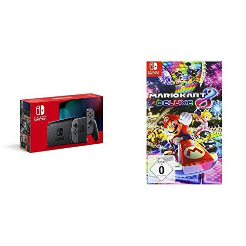 Nintendo Switch Konsole - Grau (Neue Edition) + Mario Kart 8 Deluxe [Nintendo Switch]