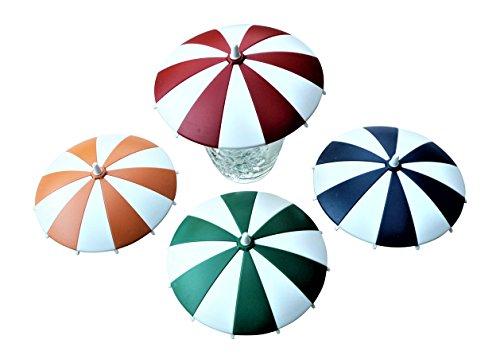 Siebert 4 Stück Glasabdeckungen Schirmchen