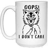 N\A Funny Coyote OOP No me Importa el Dedo Medio Taza de café con Leche