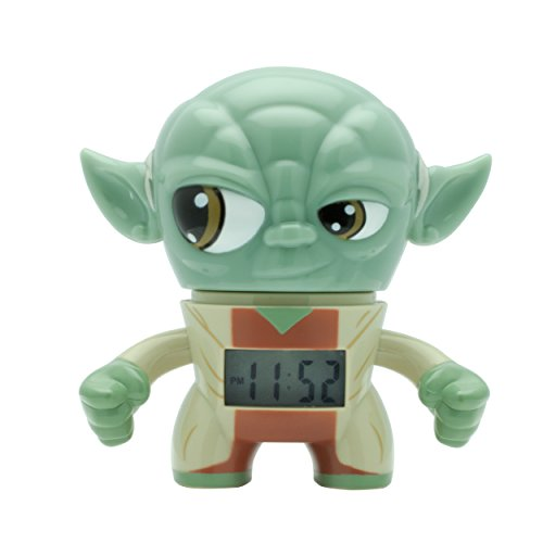 Jazwares bulbbotz Star Wars Yoda Mini Despertador, 9cm 2020206