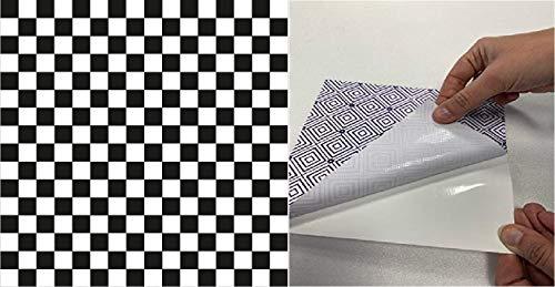 M.Service S.r.l. Le MattoBelle – Azulejos adhesivos 20 x 20 cm – Pieza individual – Precio individual de baldosa adhesiva – PVC de alta calidad y reutilizable (ajedrez 1)