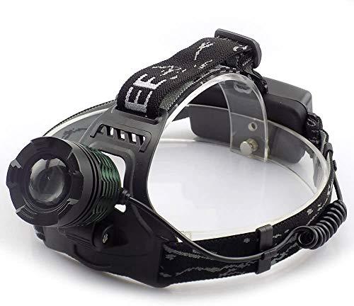 Chuanghong - Linterna frontal LED XM-L T6 para camping, linterna frontal
