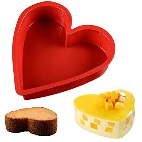 Herz Großes Kuchenform Schokoladenform Pralinenform Herz-Springform Silikon Backform Herzbackform Pralinenform für besondere Backkreationen, Herz-Backform Marken-Backform das Backen mit Liebe