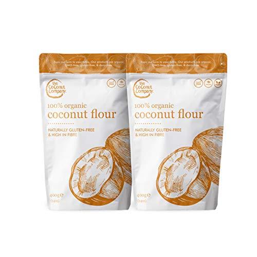 Organic Coconut Flour 400g - 2 Pack, Vegan, Raw, Naturally Gluten-Free,...