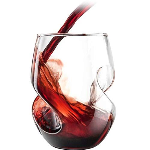 AMAZOM Vasos De Whisky De Cristal, 16 Oz Old Fashioned Rocks Vasos - Vasos De Barra Lowball para Bourbon, Whisky Escocés, Cócteles, Coñac - Vasos Grandes De Cóctel,A