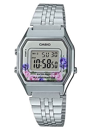 Casio Orologio Digitale Quarzo Donna con Cinturino in Acciaio Inox LA680WEA-4CEF