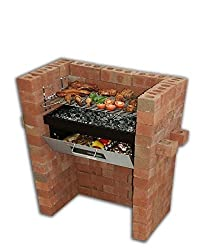 Ideal combination of barbecue and oven. Cook food in the oven whilst barbecuing above. The oven can be used to keep food warm after grilling. Adjustable height grill to control heat. The brick build in Grill & Bake charcoal barbecue provides a large ...