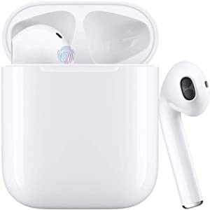 Wireless Earbuds Bluetooth 5.0 Headset Built-in Microphone Headset Noise Reduction Headset Sweat-Proof Sports Headphones Automatically Pops up Pairing,Compatible with Airpods/Android/iPhone/Samsung